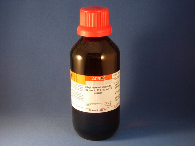 Ethanol, 99.5%, ACS, Absolute, 200 Proof, 500 mL