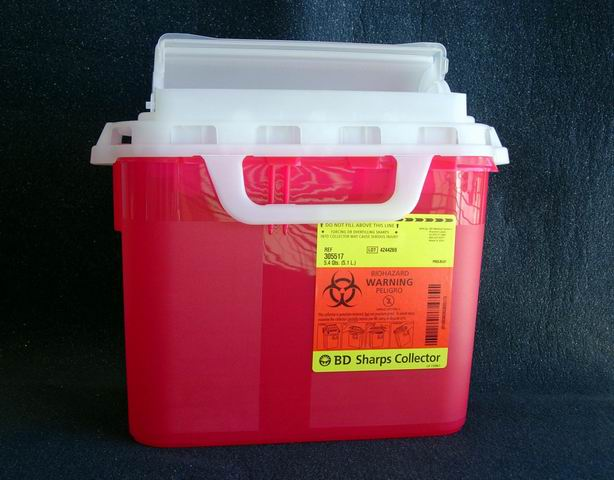 Exam Room Sharps Collector 5.4qt