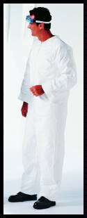 Coverall Disposable Unisex PP Large Zip Front N/S White