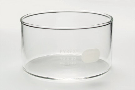 Pyrex* Brand Crystallizing Dish, Capacity: 9.13 oz. (270mL); Dia. x H: 3.54 x 1.96 in.