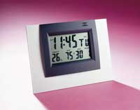 LCD Alarm Clock with Hygro-Thermometer