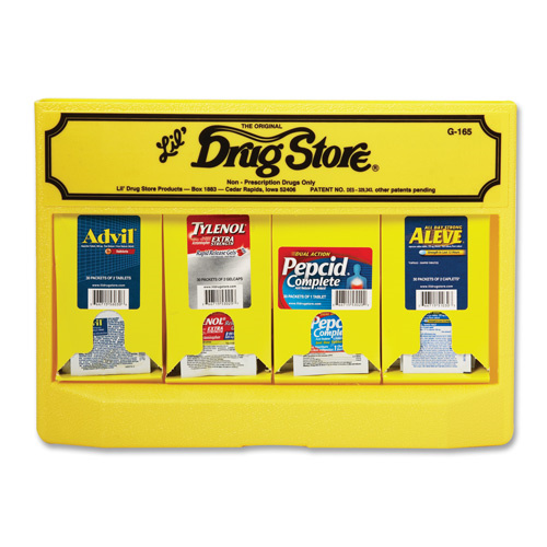 Medicine Dispenser w/Advil/Pepcid/Aleeve/Tylenol