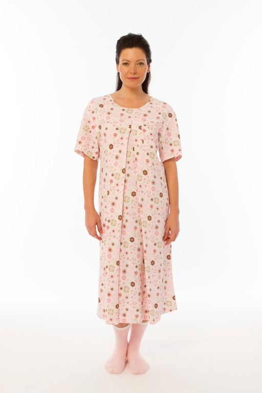 Cozy Designer Nursing Gown (Fancy Dots)
