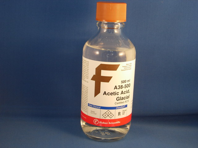 Acetic Acid, Glacial (Certified ACS), 500 mL