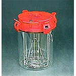 Anaerobic Jar, 2.5 Lit. with rack