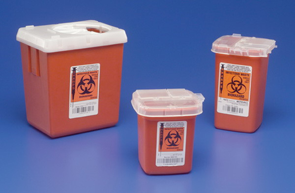 Phlebotomy Sharps Disposal Container 1qt.